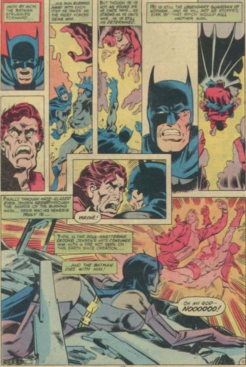 Escena de la muerte de Dick Grayson en Crisis en Tierras Infinitas
