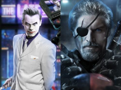Jared Leto como El Joker y Joe Manganiello como Deathsroke, fanart cortesía de bosslogicinc