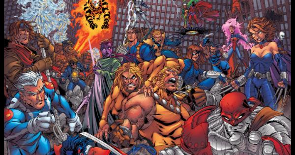 La Era de Apocalipsis en una ilustración que muestra los diseños originales