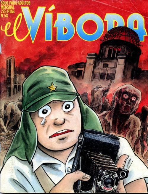 En 1984, El Víbora publica por segunda vez a Tatsumi, esta vez en portada.