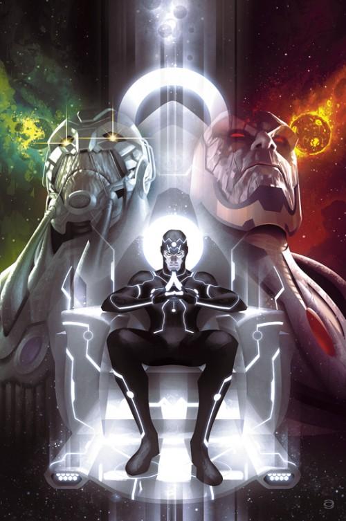 Portada alternativa del Justice League #40 por Alex Garner para paliar la espera