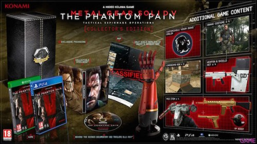 Edición coleccionista de MGSV: The Phantom Pain / Konami / 100€. / Sniff.