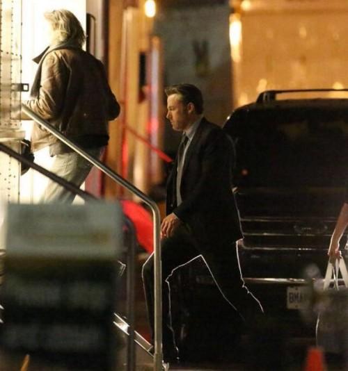 Ben Affleck en el set de Suicide Squad