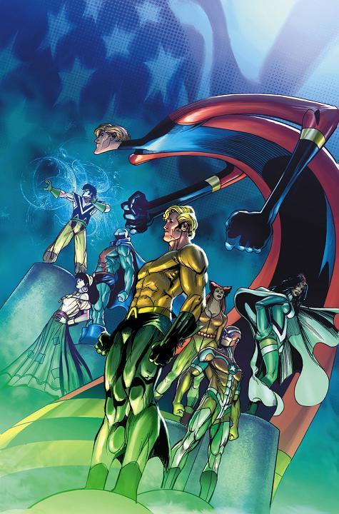 Portada del Convergence: Justice League America #1 por ChrisCross