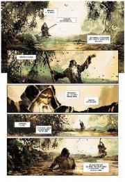 Páginas interiores de las Crónicas de Excalibur por Alain Brion