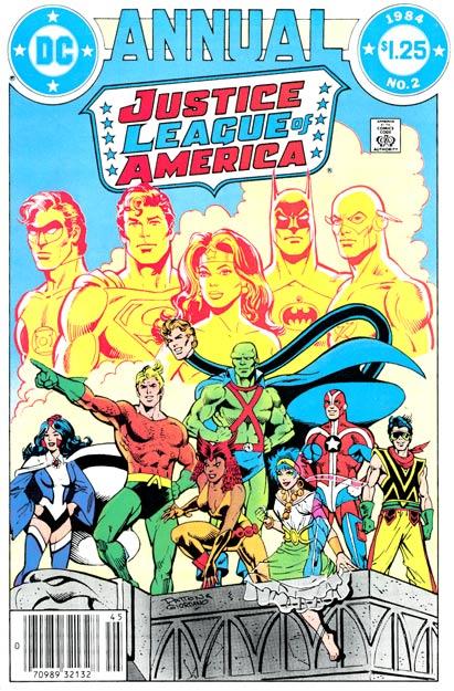 Debut de la Detroit League en el Justice League of America Annual #2 con portada de Chuck Patton
