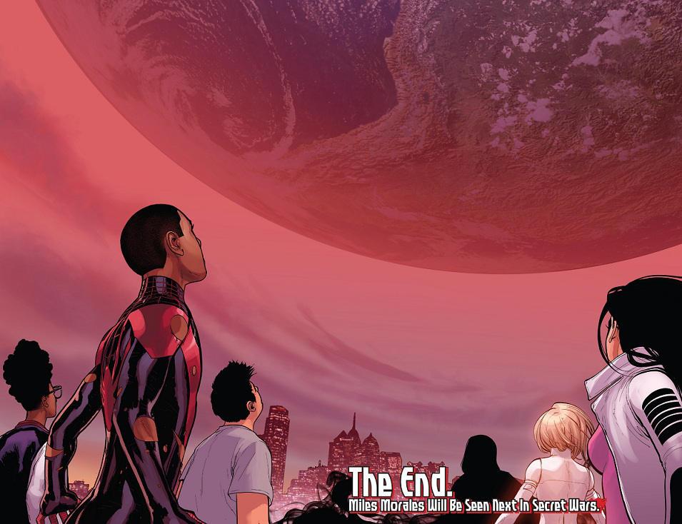 Así concluía la última serie Ultimate, con la presencia de la Tierra-616 en el cielo