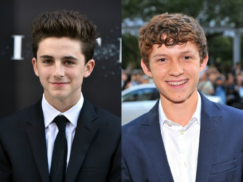 Timothée Chalamet y Tom Holland