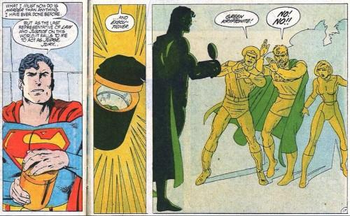 Mítica portada y momento del Superman nº22