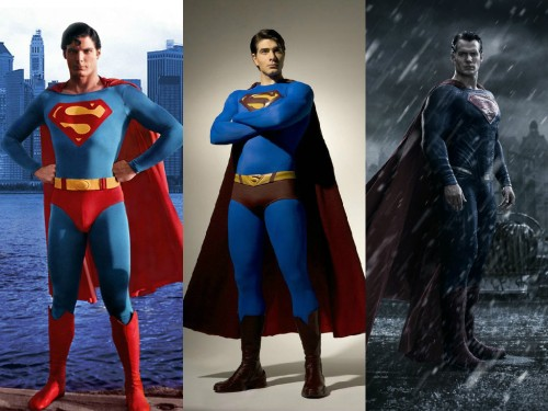 Christopher Reeve, Brandon Routh y Henry Cavill