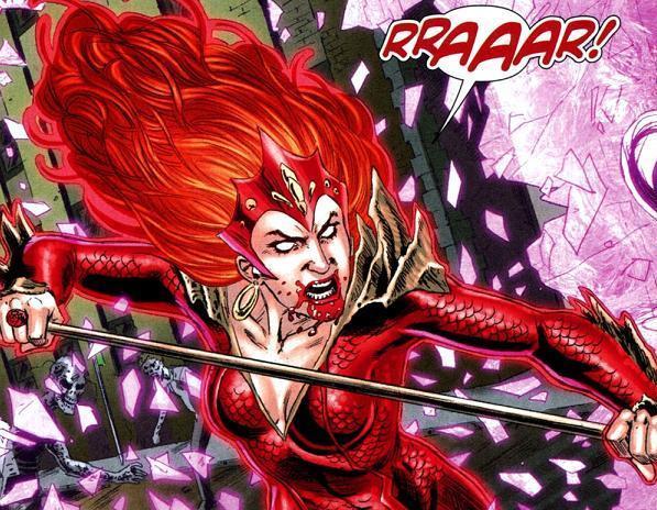 Mera como Red Lantern