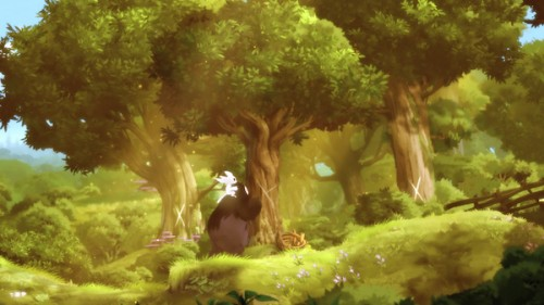 Ori y Neru al principio de la historia. / Orin and the Blind Forest / Moon Studios