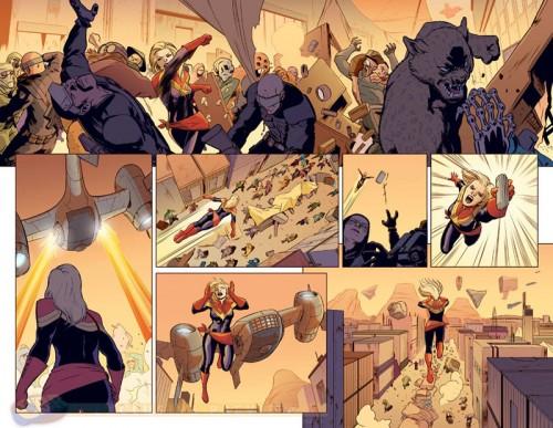 Detalle del inmenso trabajo de David López en Capitana Marvel