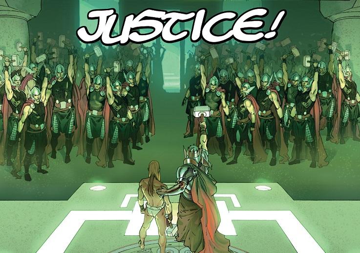 Todos los Thors celebran el nombramiento de un nuevo hermano de armas