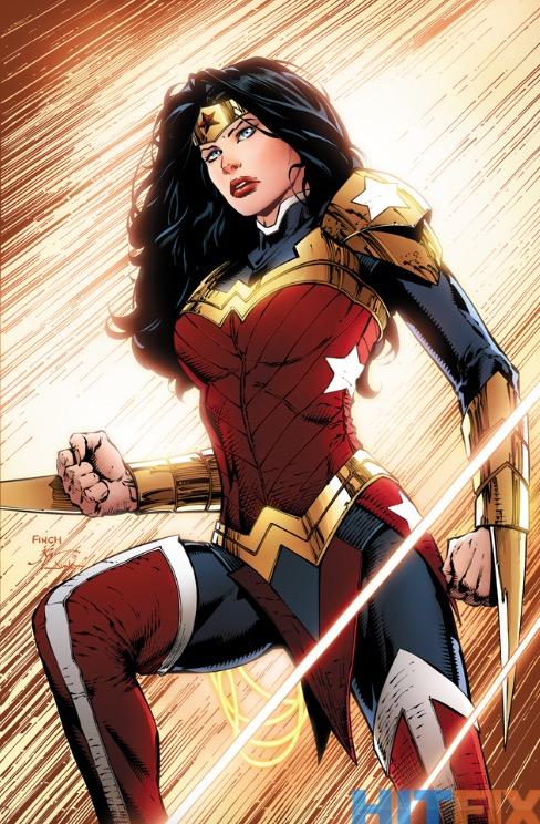 Portada de Wonder Woman #41 donde Diana estrena su nueva armadura