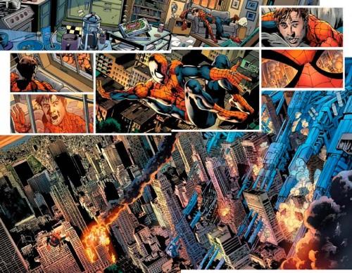 Spiderman haciendo frente a la amenaza