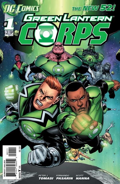 Guy Gardner como protagonista de Green Lantern Corps de Peter Tomasi y Fernando Pasarín