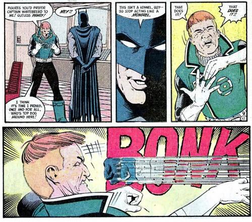 Guy Gardner no se libró de la afición de Batman de pegar puñetazos a Green Lanterns