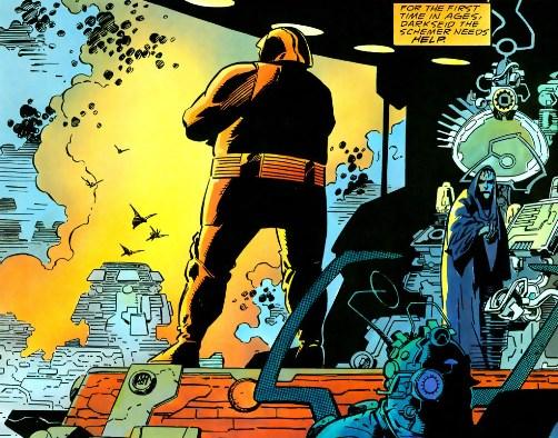 Darkseid en un momento de relax, por Mike Mignola