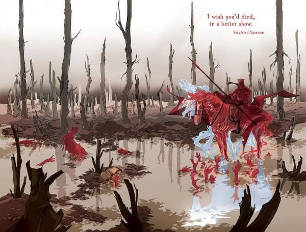 Portada para el primer número del segundo volumen de Pretty Deadly