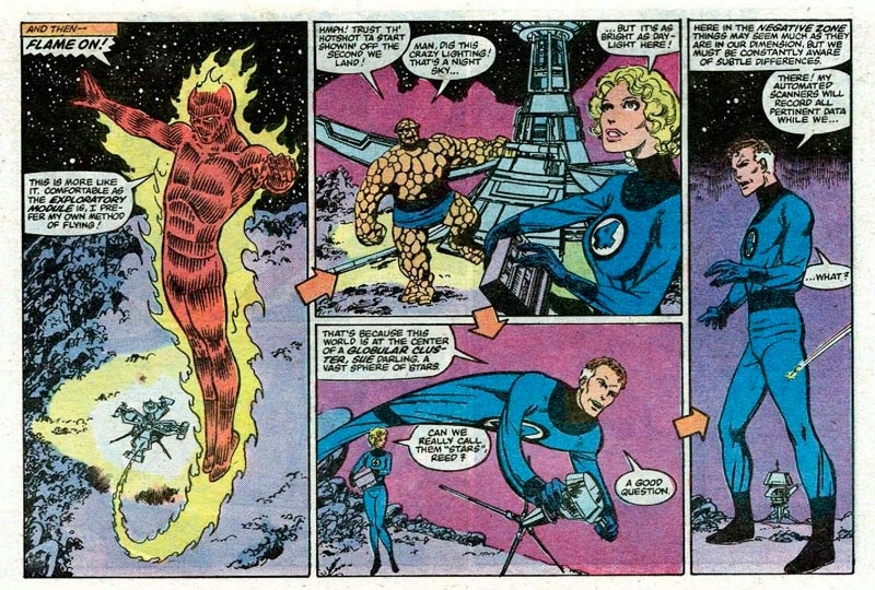 Detalle de Fantastic Four #252 el número apaisado.