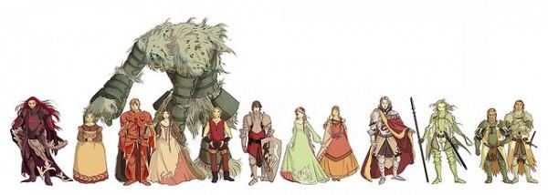 Diseño de personajes para Amadis de Gaula
