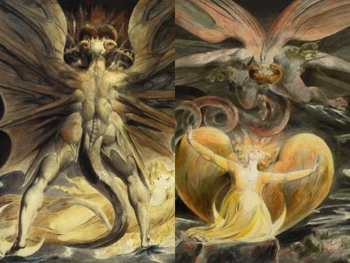 El Gran Dragón Rojo y la Mujer Vestida de Sol, de William Blake