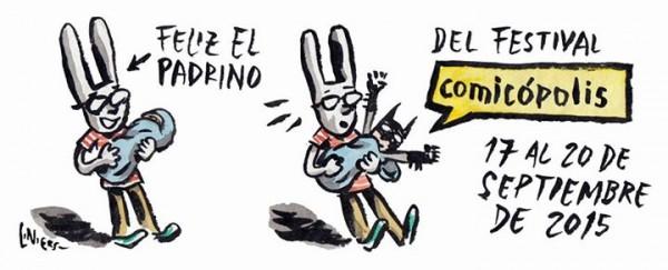 Liniers_padrino_Comicopolis