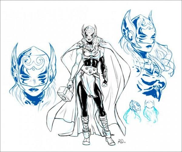 Estudio de personaje de Thor