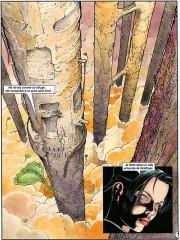 Primeras páginas del sexto tomo del ciclo de Cyann por François Bourgeon