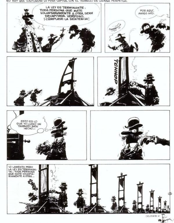 Reducción al absurdo en una tira cargada de significado de Franquin