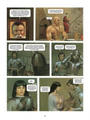Páginas interiores de El Mercenario 2 por Vicente Segrelles