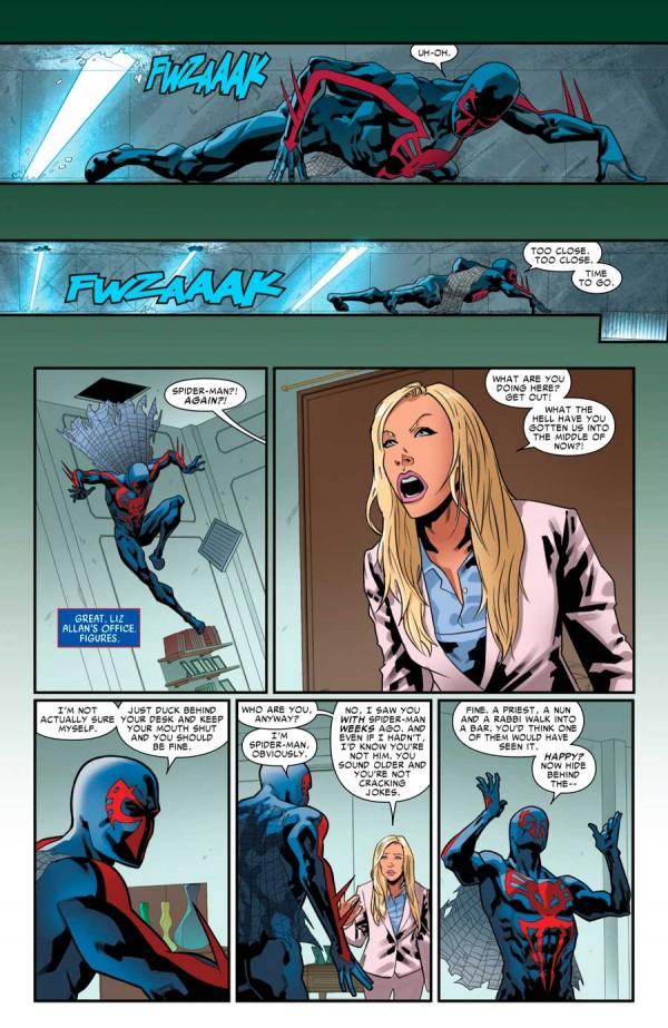 El día que Liz Allen descubrió que Spiderman trabajaba en Alchemax