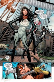Muestra del trabajo de Greg Land en Spiderwoman