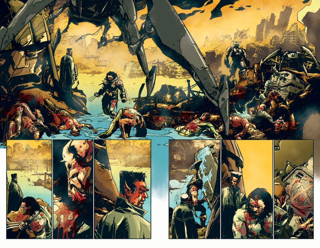 Arma Omega y Azazel, el Ministro de la Muerte, en las primeras páginas del tomo