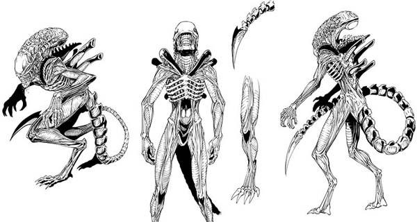 Bocetos de Aliens, de Javier García-Miranda