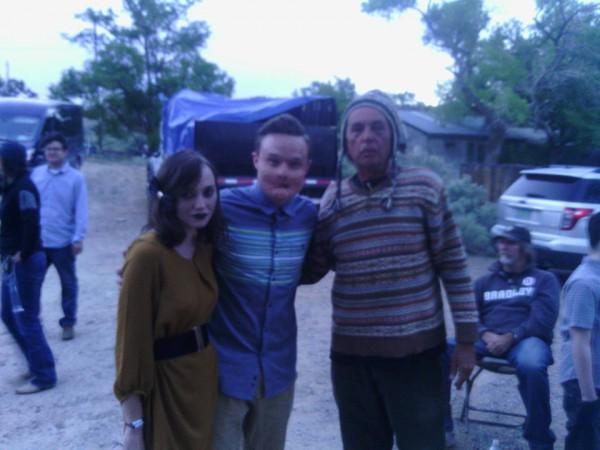 Caraculo (Ian Colletti) en el set de rodaje