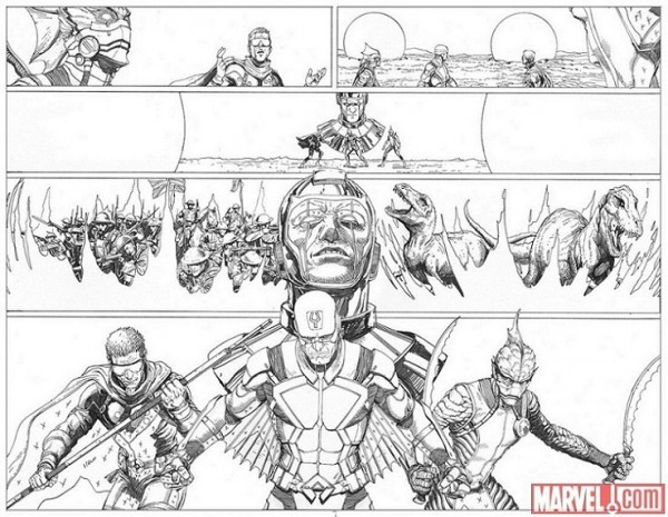 Uncanny Inhumans Steve McNiven
