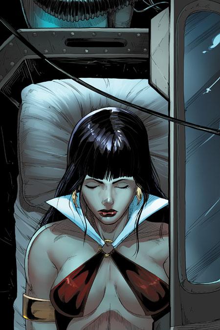 La imagen del cuello deforme de Vampirella por culpa del colorista