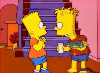 Bart y Hugo. ¿Cuál es el gemelo malvado?