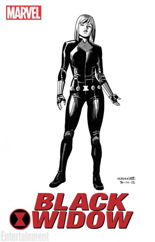 Black Widow Chris SAmnee diseno