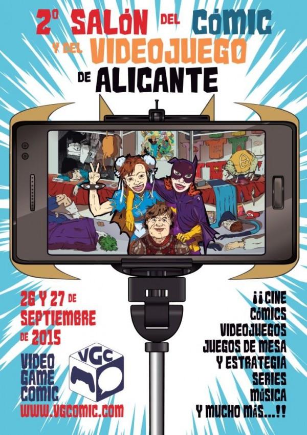 Cartel del 2º Salón del Cómic y el Videojuego de Alicante, realizado por Álvaro Nofuentes