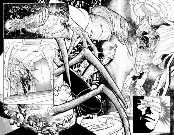 Detalle del trabajo de Javier Garrón en Ciclope