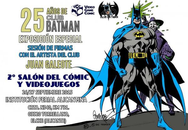 Cartel anunciador de la exposición del Club Batman
