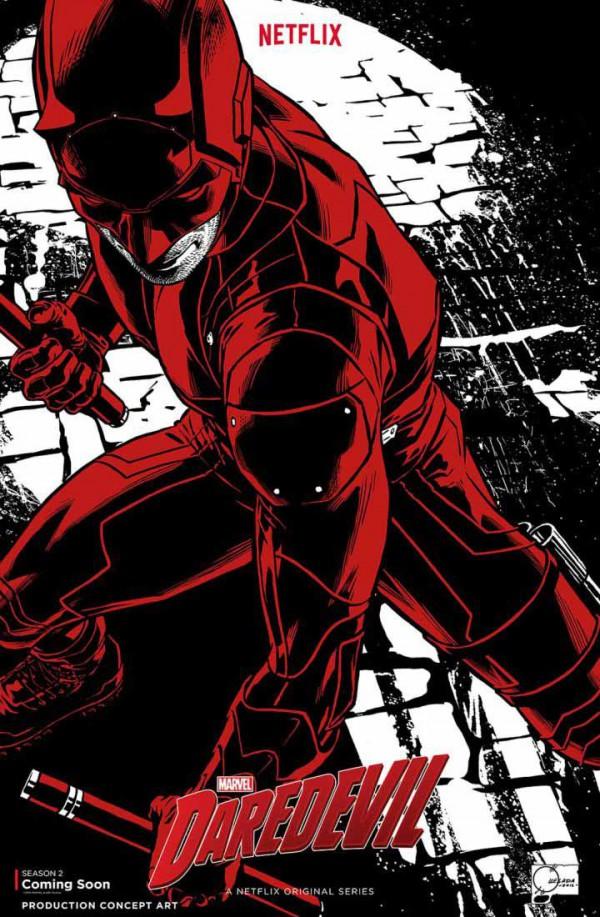 Póster concept-art de la segunda temporada de Daredevil