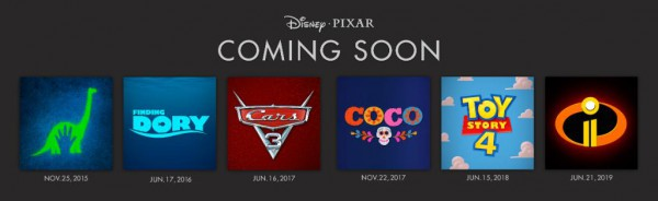 Calendario de Disney/Pixar para los próximos años