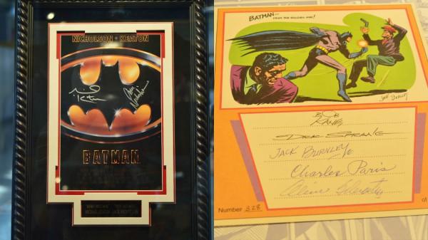 Cartel del Batman de Tim Burton (1989) firmado por Michael Keaton y Jack Nicholson. Fotografías de Jonathan Pastor.