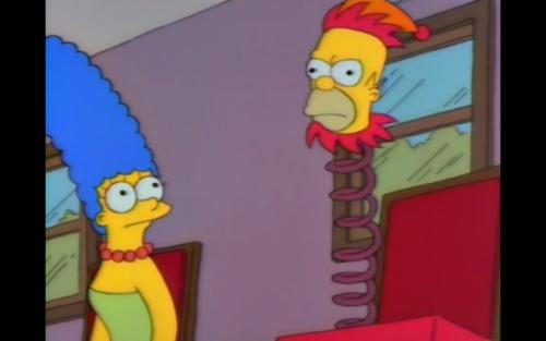 -¿Está de acuerdo con lo que digo, Homer? -No, es el aire acondicionado.