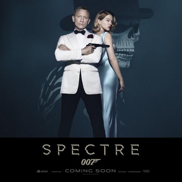 Póster de Spectre con Daniel Craig y Léa Seydoux como protagonistas