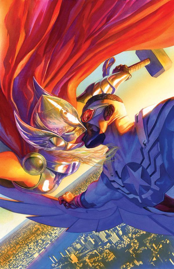 Thor Capitán América Besos Marvel Alex Ross